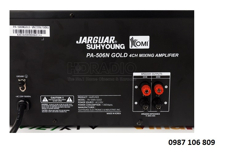 Đặc điểm vượt trội của AMPLY JARGUAR KMS-506 GOLD CLASSIC