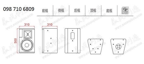 Thiết kế của LOA CF TQ 10b