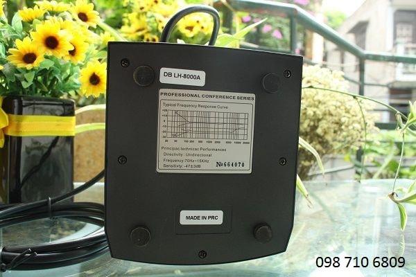 Mặt dưới của MICRO CHỦ TỌA DB LH-8000A