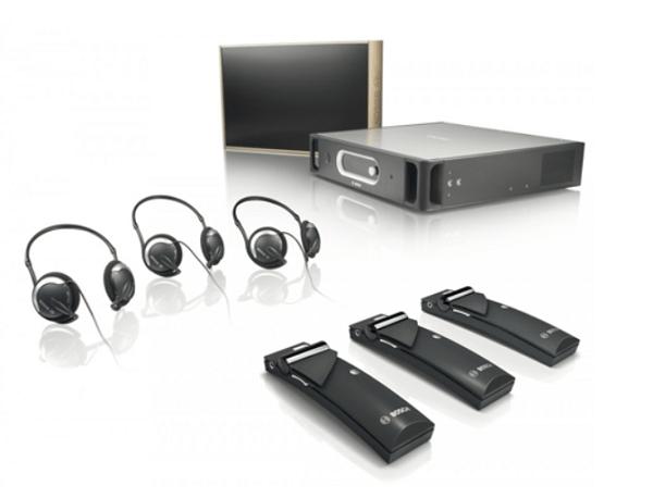 Hệ thống âm thanh hội thảo Bosch hỗ trợ phiên dịch Integrus