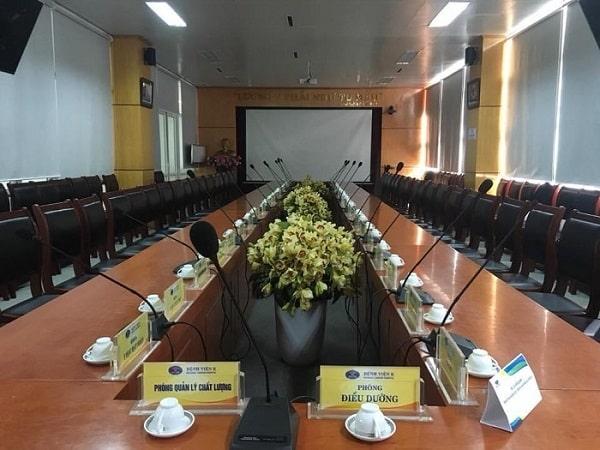Báo giá hệ thống âm thanh phòng họp theo diện tích