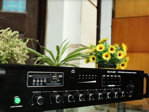 Amply cho loa âm trần DB LP-100T chia 5 vùng