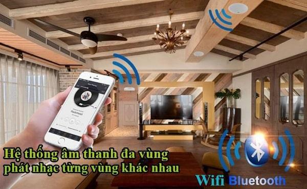 Loa âm trần wifi thường được sử dụng cho các biệt thự, khách sạn cao cấp,..