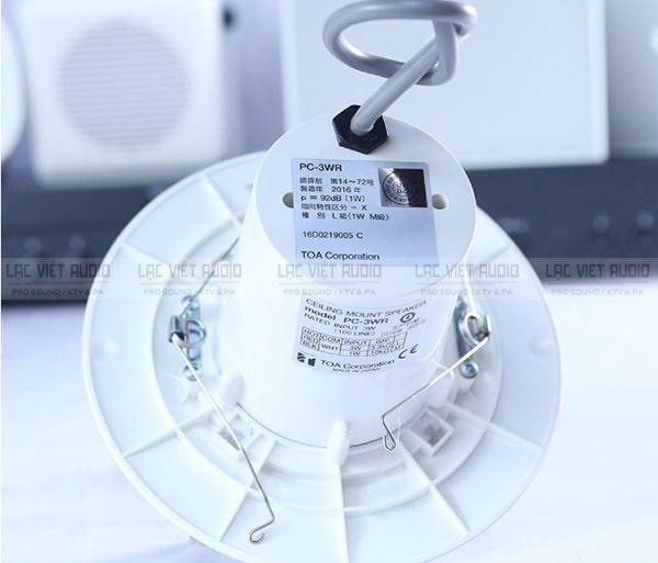 Loa âm trần 3W có chất âm nhẹ nhàng, thích hợp để phát thông báo