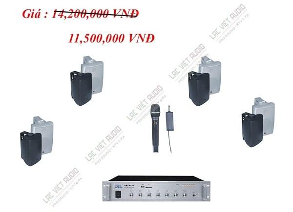 Hệ thống âm thanh phòng học cho diện tích 80m2