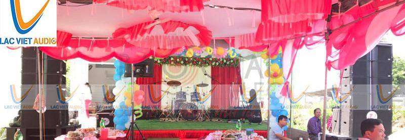 Test loa đài đám cưới là công việc thường xuyên và quen thuộc với mỗi đám cưới