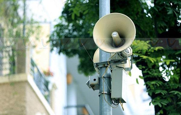 Loa phát thanh giúp tuyên truyền thông tin tới người dân