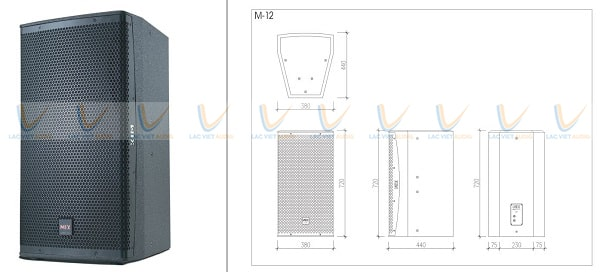 Thiết kế của loa karaoke MIX M12