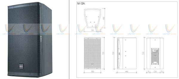 Kích thước của loa MIX M-12A